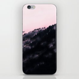 Watercolour Pink Fog Forrest iPhone Skin