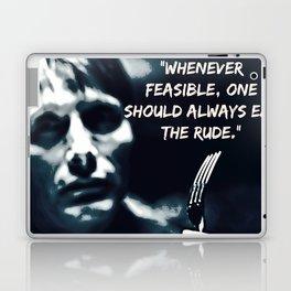 Whenever Feasible, Eat The Rude Laptop & iPad Skin