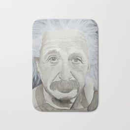 Albert Einstein Watercolor Portrait Bath Mat