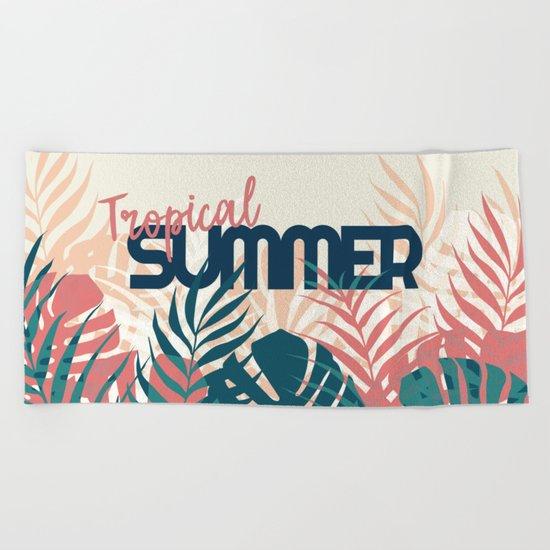 Tropical Summer #society6 #decor #buyart Beach Towel