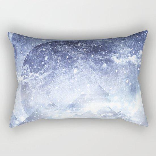 Even mountains get cold Rectangular Pillow