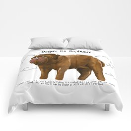 D is for Dogue de Bordeaux Comforters
