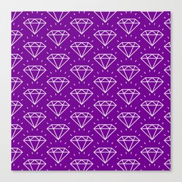 DIAMOND ((violet)) Canvas Print