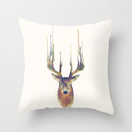 Deer // Steadfast Throw Pillow