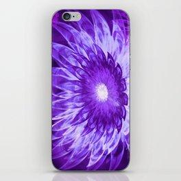 Fantasy Flowers Purple iPhone Skin
