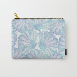Shell Ya Later - Turquoise Seashell Pattern Carry-All Pouch
