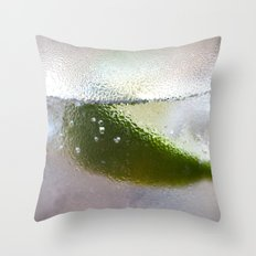 Gin and Soda with Lime Throw Pillow