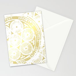 power of one: white gold Stationery Cards
