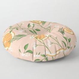 Elderflower & Oranges - Pastel Floor Pillow