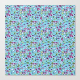 Flowers, Clovers & Diamonds Canvas Print