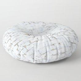 Vintage White Brick Wall Floor Pillow