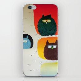 Fluffy Fat Birds - Sweetness on a Branch iPhone Skin