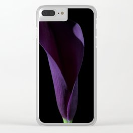 The Calla Purple 3 Clear iPhone Case