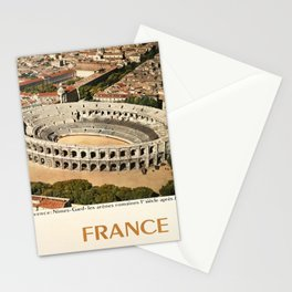 france provence nimes gard les vintage Poster Stationery Cards