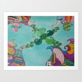 Swirly Art Print