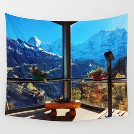 Swiss Alps Looking Glass Wall Tapestry