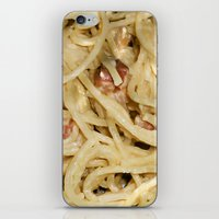 pasta iPhone & iPod Skins featuring Carbonara Pasta by Anand Brai
