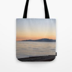 just beyond the ledge Tote Bag