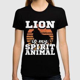 Lion Lover Gift Lion is My Spirit Animal T-shirt