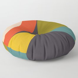 mid century bauhaus geometry large 2 Floor Pillow