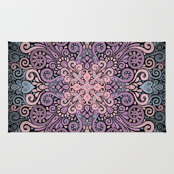 Watercolor Ornate Seamless Pattern Rug