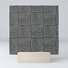 Blocks Abstract BW Mini Art Print