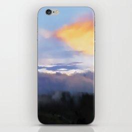 Sunset and cloud drape iPhone Skin