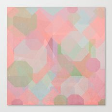 Hexagon, Square and Diamond Patterned Abstract Design Canvas Print