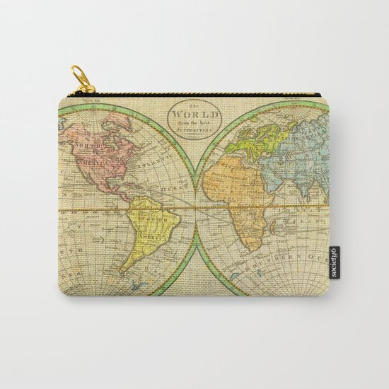 Vintage World Map 1798 Carry-All Pouch
