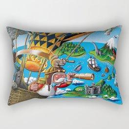 The Balloon Adventure Rectangular Pillow