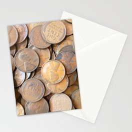 Watercolor Coins, Lincoln Wheat Pennies, 1927 03 Stationery Cards