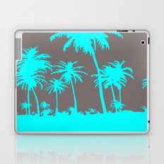 Turquoise Palm Trees Laptop & iPad Skin