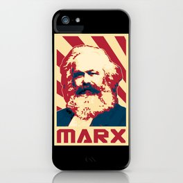 Karl Marx Retro Propaganda iPhone Case