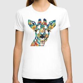 Colorful Giraffe Art - Curious - By Sharon Cummings T-shirt
