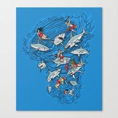 Malibu Beach Sharnado Massacre  Canvas Print