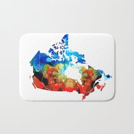 Canada - Canadian Map By Sharon Cummings Bath Mat