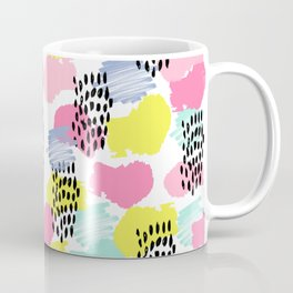 Bright happy painted pattern nursery baby gifts black and white spring summer home decor Coffee Mug