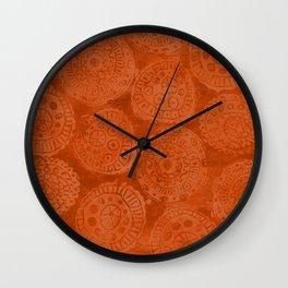 Tribal Terracota Rounds Wall Clock