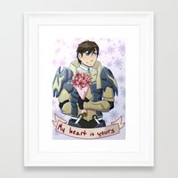 fire emblem awakening Framed Art Prints featuring Fire Emblem Awakening: Frederick Romance by firesonic152