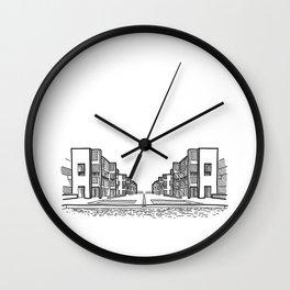 Kahn - Salk Institute Sketch (B) Wall Clock