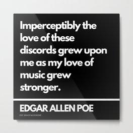 83 Edgar Allen Poe Quotes   201012  Existentialism Nihilism Existentialist Philosophy Writer Raven L Metal Print