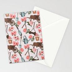 Vintage gardening pattern Stationery Cards