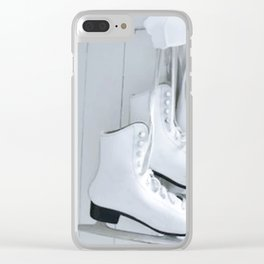 Elegant Skates Clear iPhone Case