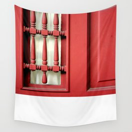 The Customary Red Door, But... Wall Tapestry