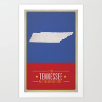 tennessee Art Prints featuring TENNESSEE by Matthew Justin Rupp