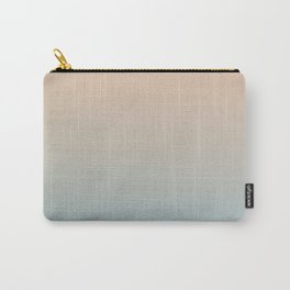 HALF MOON - Minimal Plain Soft Mood Color Blend Prints Carry-All Pouch
