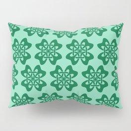 Irish Celtic Four Leaf Clover Pattern Pillow Sham