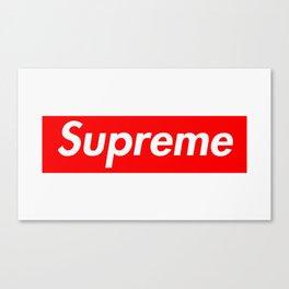 Supreme Box Logo Canvas Print