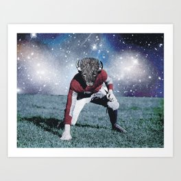BullFighter with the stars Art Print