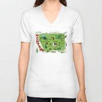 montana V-neck T-shirts featuring MONTANA by Christiane Engel